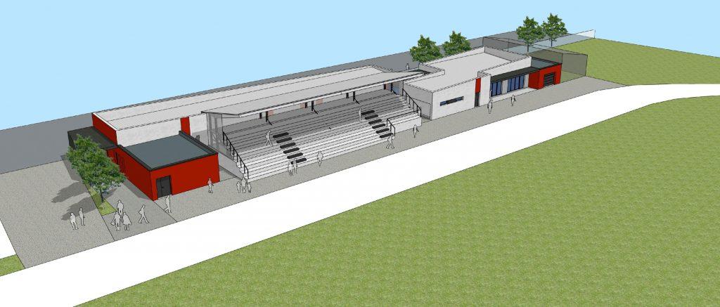 Rénovation des tribunes du rugby